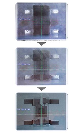 超音波切断機を使用した断面研磨作製