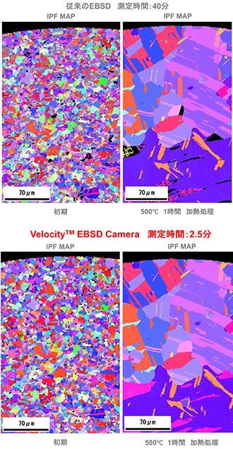 わずか数分の高速動作、高感度、低ノイズを兼ね備えたEBSD検出器を導入しました。